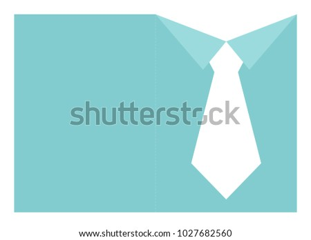 fathers day shirt tie card template stock vector royalty free