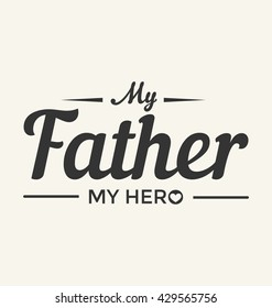 Father's Day Typographic Vector Design
