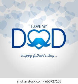 fathers day vector illustration