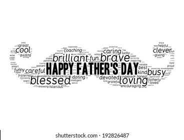 Father's day word cloud concept in vector