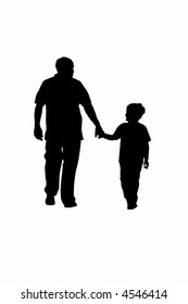 Father-son vector illustration