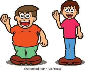 Fatter and Thinner Degree of Comparison Cartoon Theme