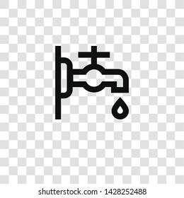 faucet icon from miscellaneous collection for mobile concept and web apps icon. Transparent outline, thin line faucet icon for website design and mobile, app development