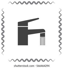 Faucet vector icon. Tap sign. Bathroom symbol