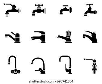 Faucet vector icon. Tap sign. Bathroom symbol..