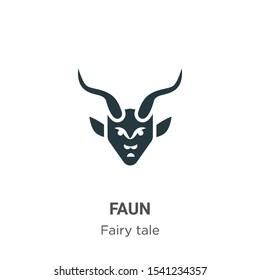 Faun vector icon on white background. Flat vector faun icon symbol sign from modern fairy tale collection for mobile concept and web apps design.