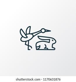 Fauna icon line symbol. Premium quality isolated animal element in trendy style.