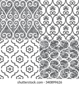 Faux Kitchen Tile Collage Patten