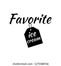 favorite ice cream. background. Wallpaper