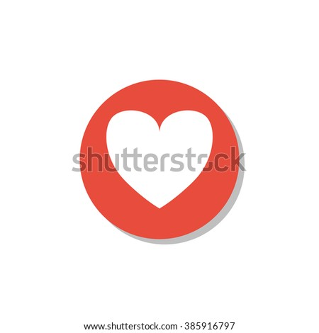 Favorite Icon On White Background Red Stock Vector (Royalty Free ... 64677925e4e