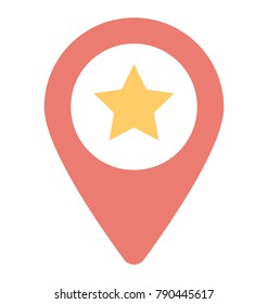Favorite Location Flat Colored Icon