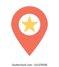Favorite Location Vector Icon