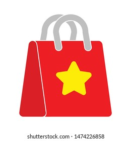 favorites shopping bag icon. flat illustration of favorites shopping bag vector icon. favorites shopping bag sign symbol