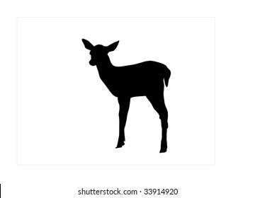 fawn silhouette