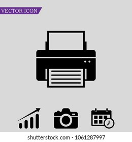 Fax icon vector, Printer sign, Web symbol