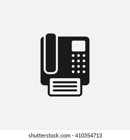 fax icon vector, solid illustration, pictogram isolated on white