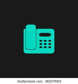 fax machine flat icon on white stock illustration 463781030