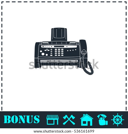 fax machine icon flat simple vector stock vector royalty free