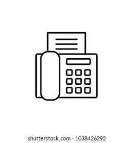 fax printer machine line vector black icon