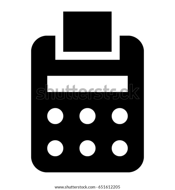 fax vector icon stock vector royalty free 651612205 shutterstock