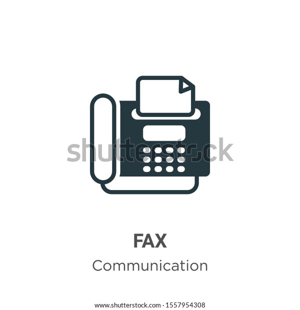 fax vector icon on white background stock vector royalty free 1557954308 shutterstock