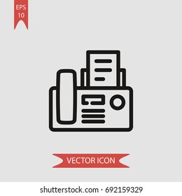 Fax vector icon, simple phone symbol sign, modern vector illustration for web, mobile design