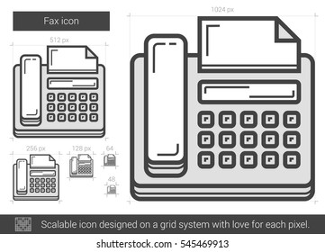 fax machine drawing images stock photos vectors shutterstock https www shutterstock com image vector fax vector line icon isolated on 545469913