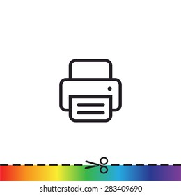 fax, web icon. vector design