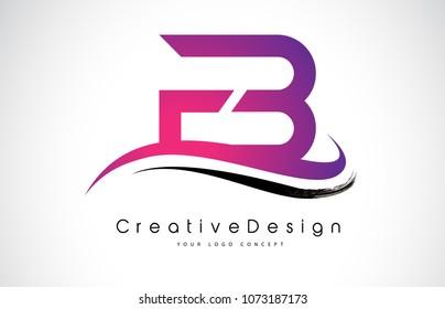 FB F B Letter Logo Design in Black Colors. Creative Modern Letters Vector Icon Logo Illustration.