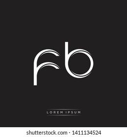 fb f b logo Initial Letter Split Lowercase