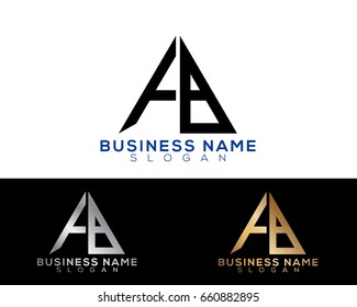 FB initial letters linked triangle shape logo