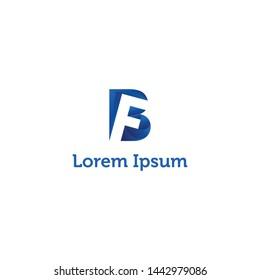 FB initial logo design simple