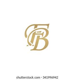FB initial monogram logo