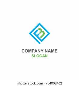 FB letter initial logo.