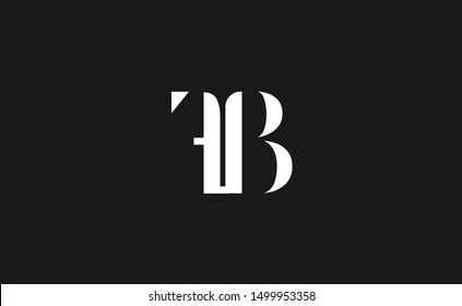 FB   Letter Logo Design with Creative Modern Trendy Typography