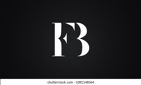 FB Letter Logo Design Template Vector