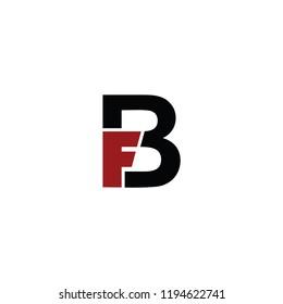 fb letter vector logo. bf letter vector logo