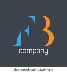 FB logo design. Company logo. onogram FB. Letters F and B