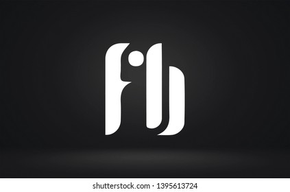 FB logo design template vector illustration
