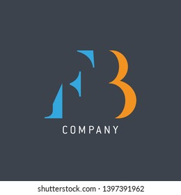 FB logo template. Company logo design. Monogram FB.