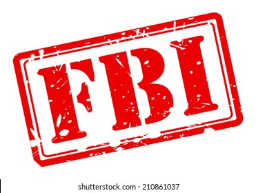 FBI red stamp text on white background