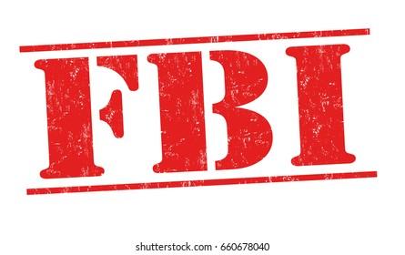 FBI sign or stamp on white background, vector illustration