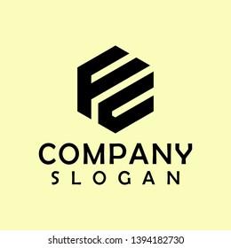 fc hexagon logo abstract colour