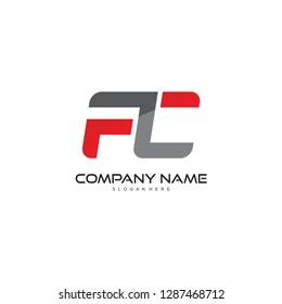 fc letter logo vector