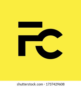 fc letter vector logo design