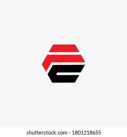 fc logo design. Vector illustration.