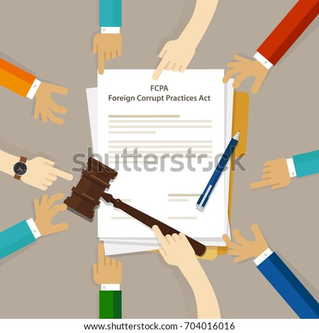 Fcpa Foreign Corrupt Practices Act Law Stock Vector Royalty Free