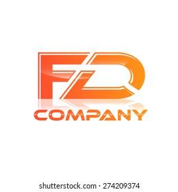 FD company linked letter logo