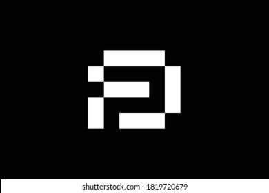 FD letter logo design on luxury background. DF monogram initials letter logo concept. DF icon design. FD elegant and Professional white color letter icon design on black background.  F D DF FD