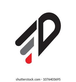 fd letter vector logo